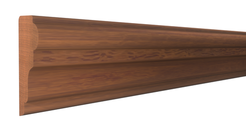 "Profile View of Panel Molding Molding, product number PA-104-018-2-HMH - 9/16"" x 1-1/8"" Honduras Mahogany Panel Molding - $2.84/ft sold by American Wood Moldings"