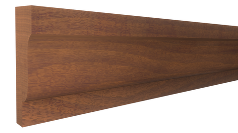 "Profile View of Panel Molding Molding, product number PA-108-016-1-HMH - 1/2"" x 1-1/4"" Honduras Mahogany Panel Molding - $2.80/ft sold by American Wood Moldings"
