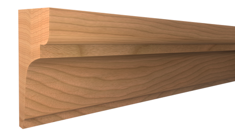 "Profile View of Panel Molding Molding, product number PA-108-024-1-CH - 3/4"" x 1-1/4"" Cherry Panel Molding - $2.60/ft sold by American Wood Moldings"