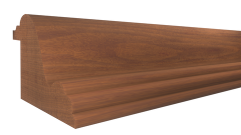 "Profile View of Panel Molding Molding, product number PA-112-102-1-HMH - 1-1/16"" x 1-3/8"" Honduras Mahogany Panel Molding - $5.28/ft sold by American Wood Moldings"