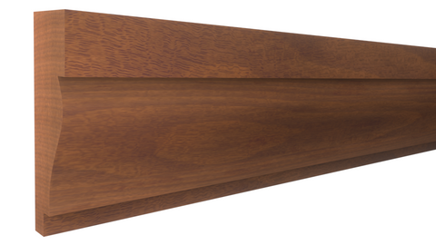 "Profile View of Panel Molding Molding, product number PA-116-018-1-HMH - 9/16"" x 1-1/2"" Honduras Mahogany Panel Molding - $3.80/ft sold by American Wood Moldings"
