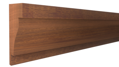 "Profile View of Panel Molding Molding, product number PA-116-024-1-HMH - 3/4"" x 1-1/2"" Honduras Mahogany Panel Molding - $4.80/ft sold by American Wood Moldings"
