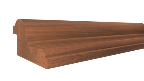 "Profile View of Panel Molding, product number PA-116-028-1-HMH - 7/8"" x 1-1/2"" Honduras Mahogany Panel Molding - $4.80/ft sold by American Wood Moldings"