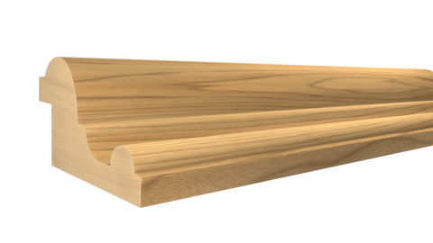 "Profile View of Panel Molding, product number PA-116-028-1-MA - 7/8"" x 1-1/2"" Maple Panel Molding - $2.40/ft sold by American Wood Moldings"