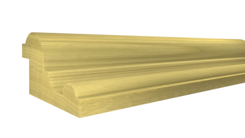 "Profile View of Panel Molding Molding, product number PA-116-028-1-PO - 7/8"" x 1-1/2"" Poplar Panel Molding - $1.52/ft sold by American Wood Moldings"