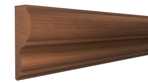 "Profile View of Panel Molding, product number PA-118-026-1-HMH - 13/16"" x 1-9/16"" Honduras Mahogany Panel Molding - $3.88/ft sold by American Wood Moldings"