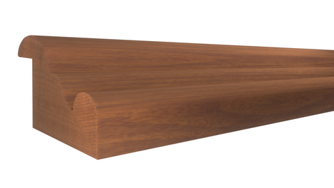 "Profile View of Panel Molding Molding, product number PA-118-100-1-HMH - 1"" x 1-9/16"" Honduras Mahogany Panel Molding - $6.00/ft sold by American Wood Moldings"