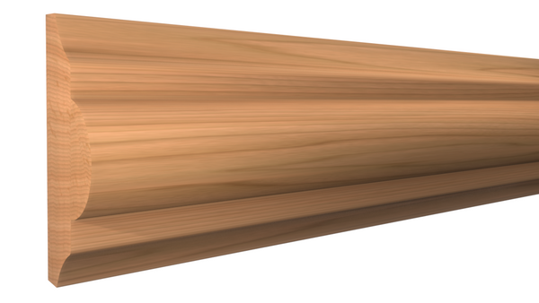 "Profile View of Panel Molding, product number PA-124-024-1-CH - 3/4"" x 1-3/4"" Cherry Panel Molding - $2.96/ft sold by American Wood Moldings"