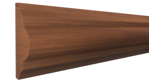 "Profile View of Panel Molding, product number PA-124-024-1-HMH - 3/4"" x 1-3/4"" Honduras Mahogany Panel Molding - $5.40/ft sold by American Wood Moldings"