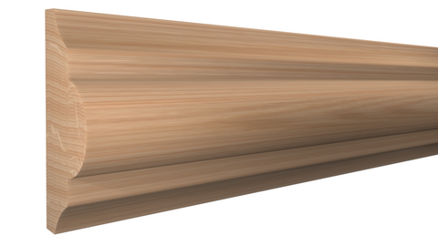 "Profile View of Panel Molding Molding, product number PA-124-024-1-RO - 3/4"" x 1-3/4"" Red Oak Panel Molding - $2.16/ft sold by American Wood Moldings"