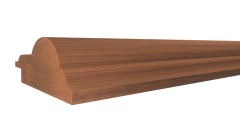 "Profile View of Panel Molding, product number PA-124-024-2-HMH - 3/4"" x 1-3/4"" Honduras Mahogany Panel Molding - $5.60/ft sold by American Wood Moldings"