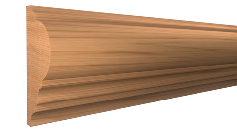 "Profile View of Panel Molding, product number PA-128-028-1-CH - 7/8"" x 1-7/8"" Cherry Panel Molding - $3.92/ft sold by American Wood Moldings"