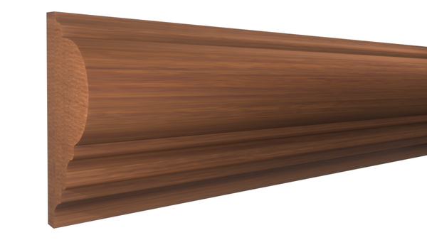 "Profile View of Panel Molding, product number PA-128-028-1-HMH - 7/8"" x 1-7/8"" Honduras Mahogany Panel Molding - $5.52/ft sold by American Wood Moldings"