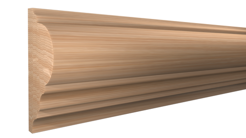 "Profile View of Panel Molding Molding, product number PA-128-028-1-RO - 7/8"" x 1-7/8"" Red Oak Panel Molding - $2.28/ft sold by American Wood Moldings"