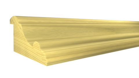 "Profile View of Panel Molding Molding, product number PA-130-100-1-PO - 1"" x 1-15/16"" Poplar Panel Molding - $2.28/ft sold by American Wood Moldings"
