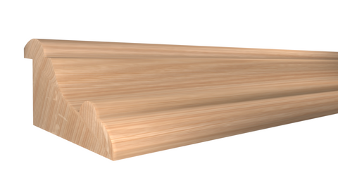 "Profile View of Panel Molding Molding, product number PA-130-100-1-RO - 1"" x 1-15/16"" Red Oak Panel Molding - $3.12/ft sold by American Wood Moldings"