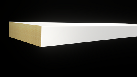 Standard Size 1x3 Primed Finger Joint Boards - $0.92/ft