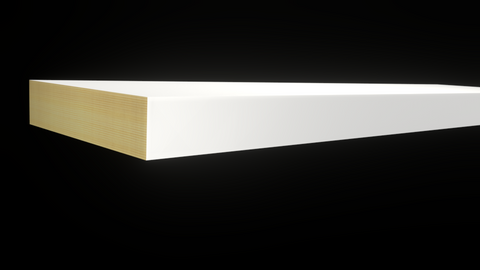 Standard Size 1x4 Primed Finger Joint Boards - $1.04/ft