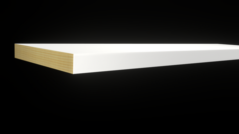 Standard Size 1x6 Primed Finger Joint Boards - $1.64/ft