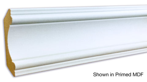 "Profile View of Crown Molding, product number CR-312-022-1-PM - 11/16"" x 3-3/8"" Primed MDF Crown - $0.83/ft sold by American Wood Moldings"
