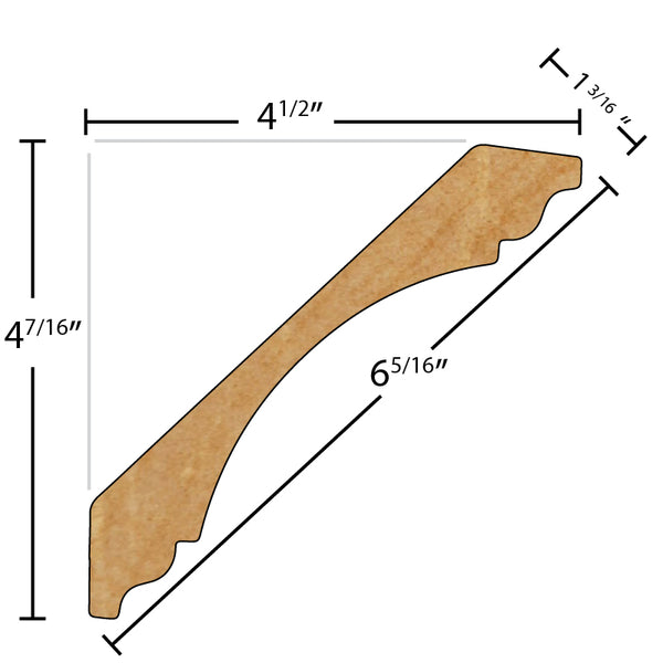 "FRCR610 1-3/16"" x 6-5/16"" - $30.37/ft.  Crown Flexible n/a sold by American Wood Moldings"