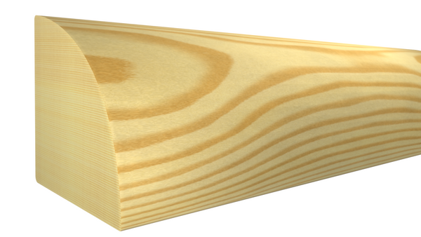 "RO-016-016-1-CP - 1/2"" x 1/2"" Clear Pine Quarter Round - $0.44/ft"