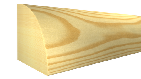 "RO-024-024-1-CP - 3/4"" x 3/4"" Clear Pine Quarter Round - $0.80/ft"