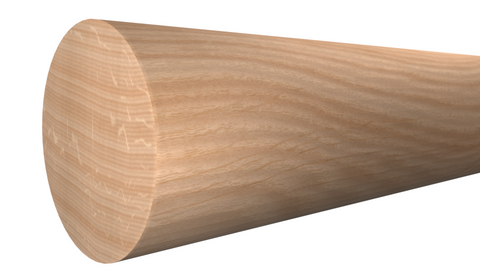 "RO-024-024-2-RO - 3/4"" x 3/4"" Red Oak Full Round - $1.08/ft"