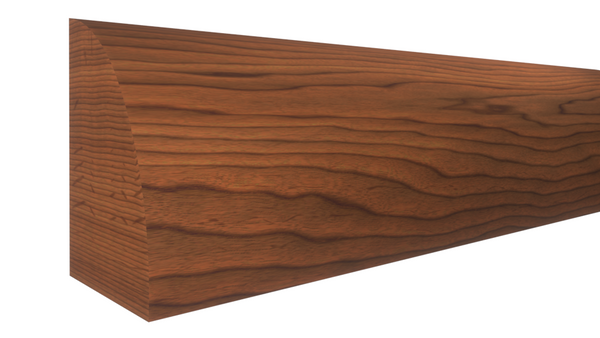 "Profile View of Shoe Molding, product number SH-024-016-1-BCH - 1/2"" x 3/4"" Brazilian Cherry Shoe - $1.80/ft sold by American Wood Moldings"