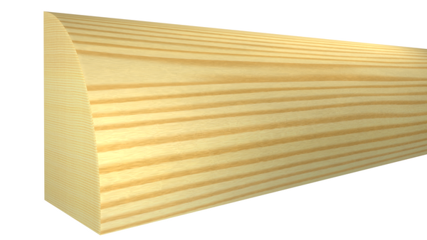 "Profile View of Shoe Molding, product number SH-024-016-1-CP - 1/2"" x 3/4"" Clear Pine Shoe - $0.52/ft sold by American Wood Moldings"