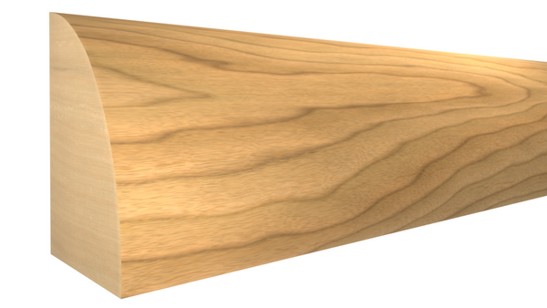 "Profile View of Shoe Molding, product number SH-024-016-1-MA - 1/2"" x 3/4"" Maple Shoe - $1.56/ft sold by American Wood Moldings"