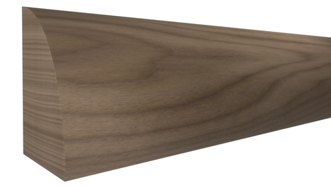 "Profile View of Shoe Molding, product number SH-024-016-1-WA - 1/2"" x 3/4"" Walnut Shoe - $2.88/ft sold by American Wood Moldings"