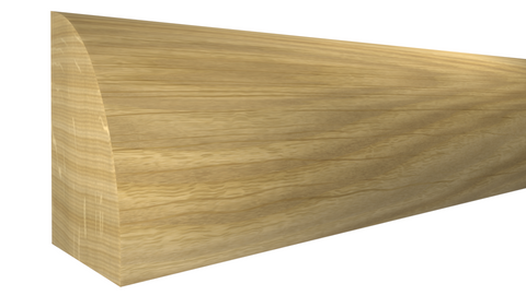 "Profile View of Shoe Molding, product number SH-024-016-1-WO - 1/2"" x 3/4"" White Oak Shoe - $1.20/ft sold by American Wood Moldings"