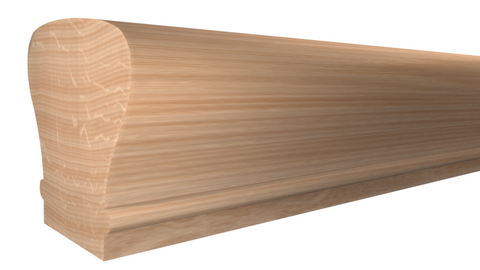 "SHR-212-208-1-RO - 2-1/4"" x 2-3/8"" Red Oak Stair Handrail - $8.56/ft"