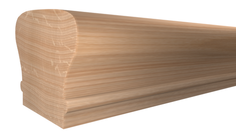 "SHR-212-220-1-RO - 2-5/8"" x 2-3/8"" Red Oak Stair Handrail - $10.50/ft"