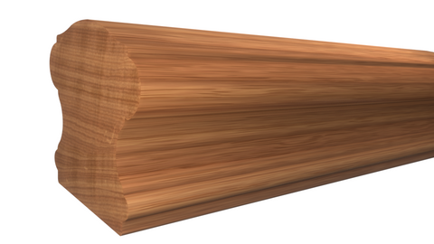 "Profile View of Stair Handrail Molding, product number SHR-224-220-1-AMH - 2-5/8"" x 2-3/4"" African Mahogany Stair Handrail - $14.40/ft sold by American Wood Moldings"