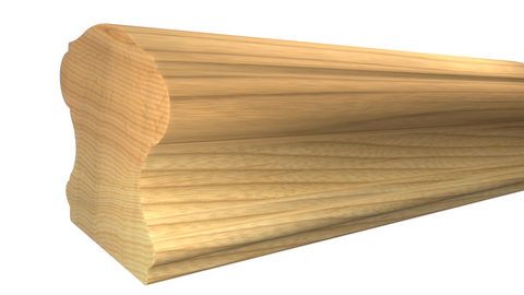 "SHR-224-220-1-HI - 2-5/8"" x 2-3/4"" Hickory Stair Handrail - $10.92/ft"