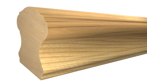 "Profile View of Stair Handrail Molding, product number SHR-224-220-1-MA - 2-5/8"" x 2-3/4"" Maple Stair Handrail - $13.00/ft sold by American Wood Moldings"