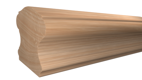 "SHR-224-220-1-RO - 2-5/8"" x 2-3/4"" Red Oak Stair Handrail - $11.80/ft"