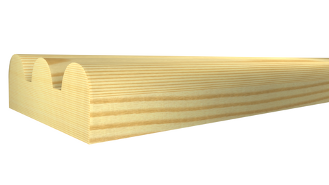 "SN-024-008-2-CP - 1/4"" x 3/4"" Clear Pine Screen Molding - $0.36/ft"