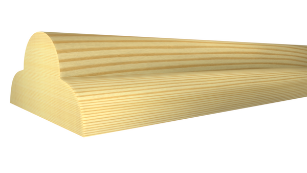 "Profile View of Screen Molding, product number SN-024-012-2-CP - 3/8"" x 3/4"" Clear Pine Screen Molding - $0.52/ft sold by American Wood Moldings"