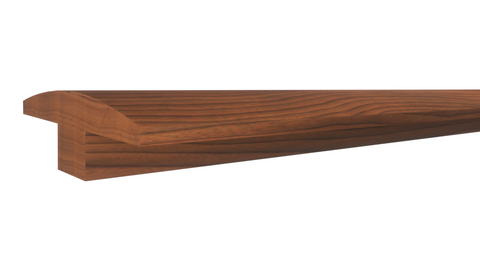 "Profile View of T-Mold Molding, product number TM-200-022-1-BCH - 11/16"" x 2"" Brazilian Cherry T-Molding - $6.65/ft sold by American Wood Moldings"