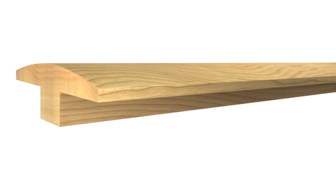 "Profile View of T-Molding Molding, product number TM-200-022-1-HI - 11/16"" x 2"" Hickory T-Molding - $3.00/ft sold by American Wood Moldings"