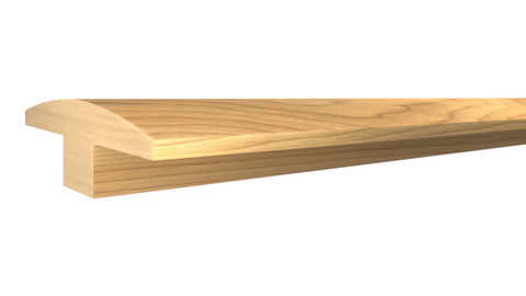 "Profile View of T-Mold Molding, product number TM-200-022-1-MA - 11/16""x 2"" Maple T-Molding - $4.00/ft sold by American Wood Moldings"