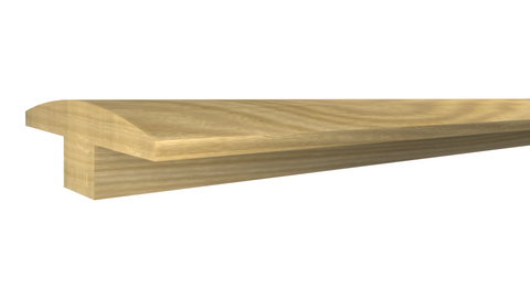 "Profile View of T-Molding Molding, product number TM-200-022-1-WO - 11/16"" x 2"" White Oak T-Molding - $4.40/ft sold by American Wood Moldings"