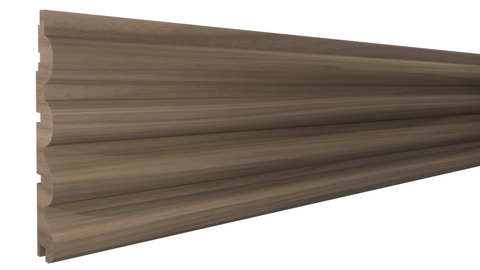 "Profile View of Wainscot Molding, product number WS-408-024-1-WA - 3/4"" x 4-1/4"" Walnut Wainscot - $7.32/ft sold by American Wood Moldings"