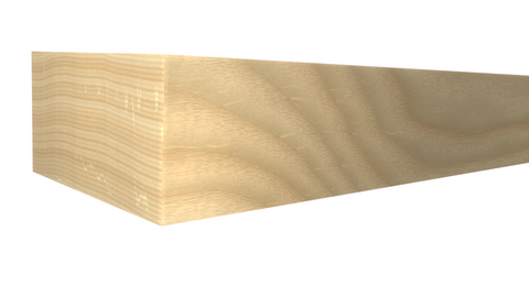 Profile View of Standard Size 1x2 Ash Boards - $1.44/ft sold by American Wood Moldings
