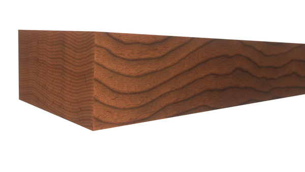 Profile View of Standard Size 1x2 Brazilian Cherry Boards - $3.32/ft sold by American Wood Moldings