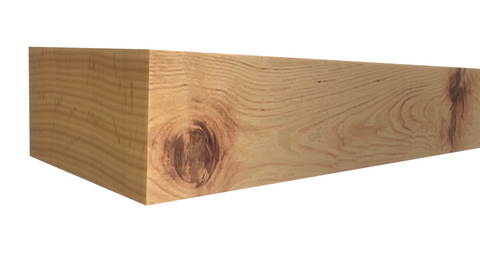 Profile View of Standard Size 1x2 Knotty Alder Boards - $1.80/ft sold by American Wood Moldings