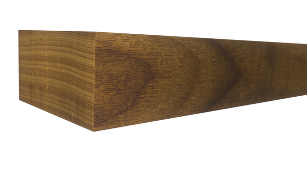 Profile View of Standard Size 1x2 Teak Boards - $12.60/ft sold by American Wood Moldings